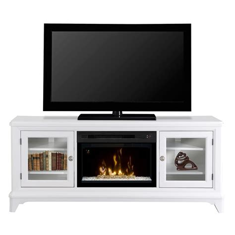 Dimplex Electric Fireplace Media Console by 70 Quot Dimplex Winterstein White Glass Ember Bed Media