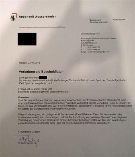 Brief Schweiz Zoll Samenverfolgung Thc Wiki