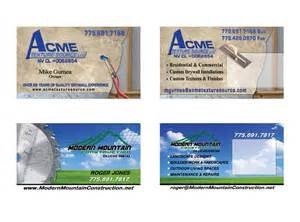 construction company business card ideas business card designs printing and graphic design reno