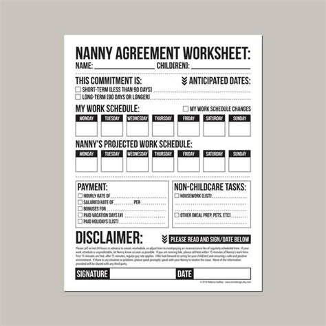 Babysitter Contract Template