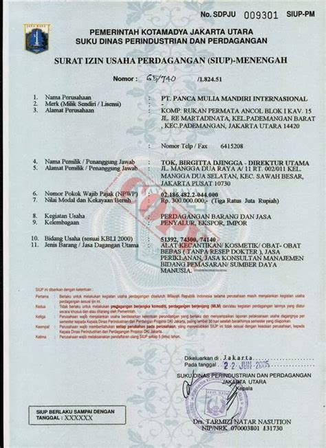 priyanti kusuma sari contoh dokumen siup akta notaris npwp