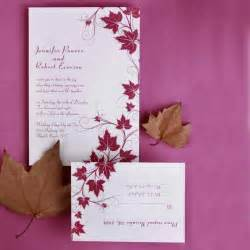 discount wedding invitation modern maple leaves discount wedding invitation sets ewi057 as low as 0 94