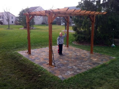 diy backyard pergola backyard pergola and patio diy traditional landscape