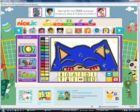 nick jr coloring games gamesworld sonic drawn in nickjr xd by cherriskullz on deviantart