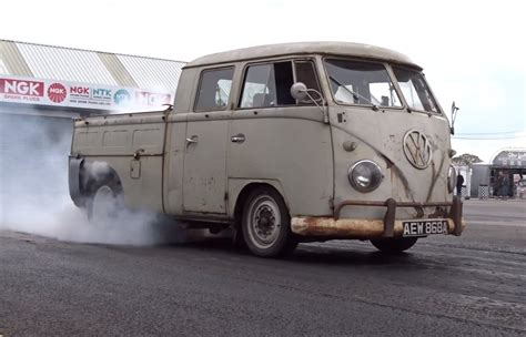 vw truck volkswagen bus with 560 hp subaru engine is a weird pickup
