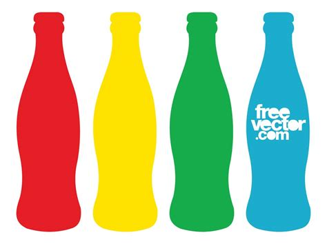 Colorful Bottle Glass colorful beverage contour bottles vector graphics