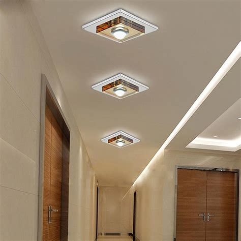 Flush Ceiling Lights For Hallway Cree Modern 3w 5w Led Ceiling Lights Flush Mount Modern Stainless Steel Hallway Cool White