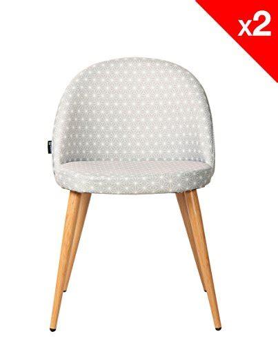 chaise cocktail scandinave kayelles chaise vintage r 233 tro giza lot de 2 chaises