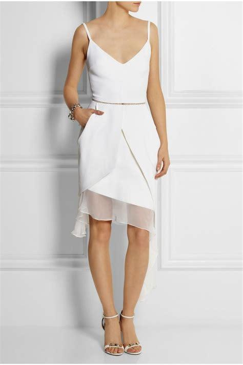 Chiffon Crepe White Dress preen by thornton bregazzi esther asymmetric chiffon and crepe dress clothes wish list