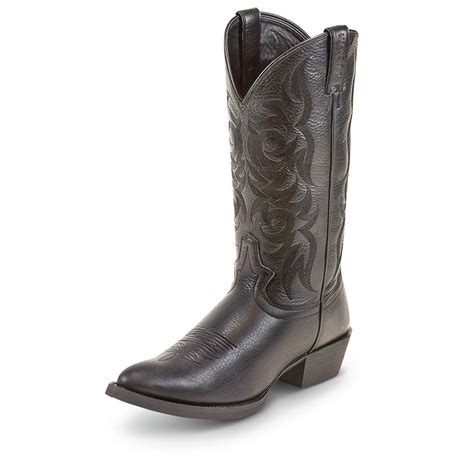 s justin 13 quot stede western boots black 213348
