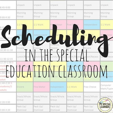 Need Help Putting Together A Schedule For Your Special Education Classroom Look No Further Special Education Classroom Schedule Template