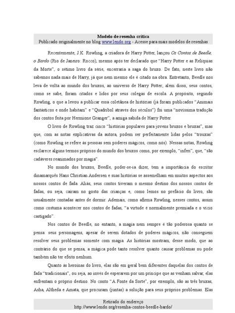 modelo-resenha-critica | Harry Potter | J.K. Rowling