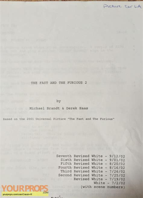 fast and furious dialogues 2 fast 2 furious original script screenplay and photo book