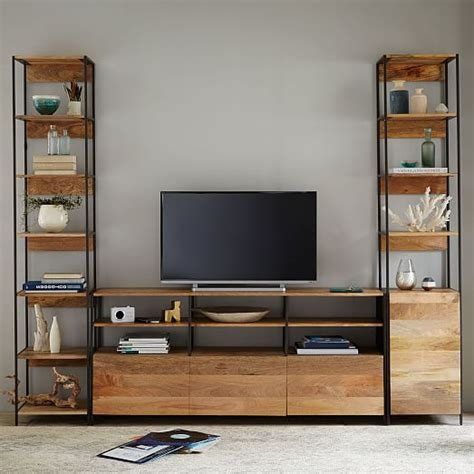 west elm media cabinet industrial modular 67 quot media console west elm