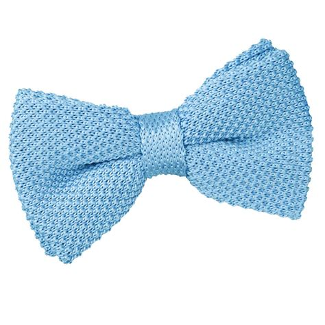 knit bow tie s knitted baby blue bow tie