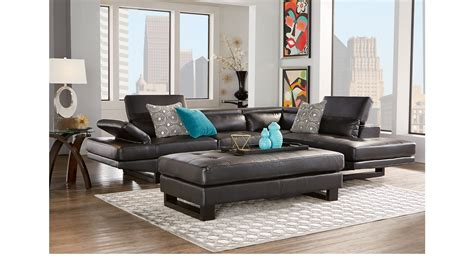 shiloh sectional sofa 0 00 shiloh black 3 pc sectional living room