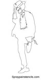 Michael Outline by Michael Jackson Stencils