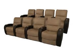 Seatcraft Catalina Home Theater Seating 8 Seats Brown Theater Seating