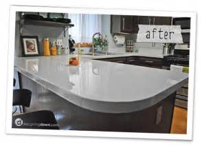 Paint Kitchen Countertop Remodelaholic Glossy Painted Kitchen Counter Top Tutorial
