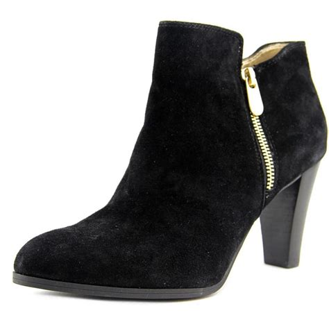 womans suede boots adrienne vittadini thurston suede black ankle boot boots