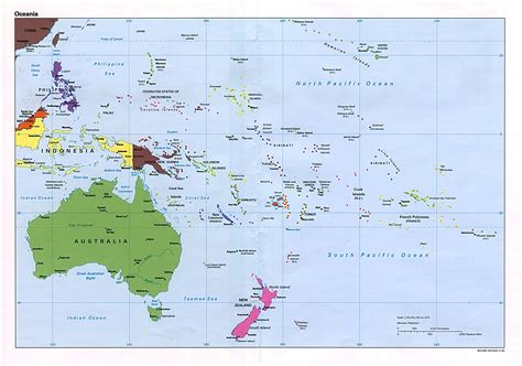 map of oceania maps oceania political map