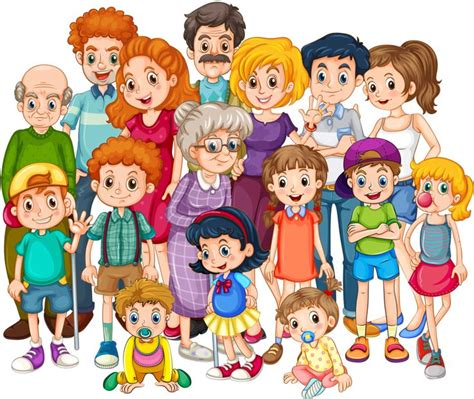 clipart famiglia great extended family illustration teaching