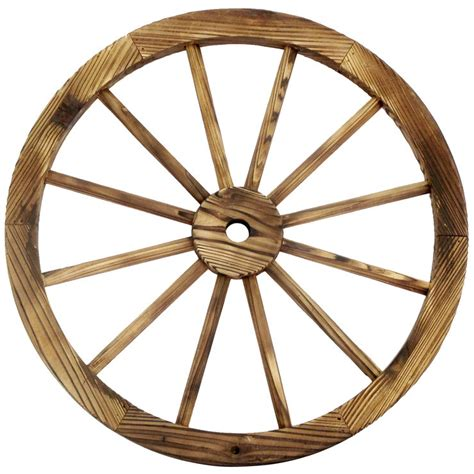 wagon wheel home decor 24 in wood wagon wheel patio d 233 cor at home