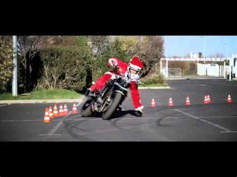 motorcycle new year santa claus motorcycle stunts happy new year 2012