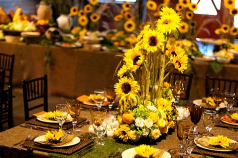 sunflower table settings sunflower table setting by kg designs photo by fotowerks