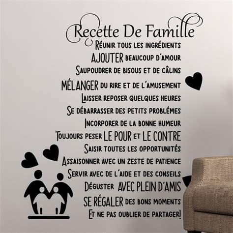 Le De Salon A Poser 7481 by Sticker Citation Recette De Famille Stickers Citations