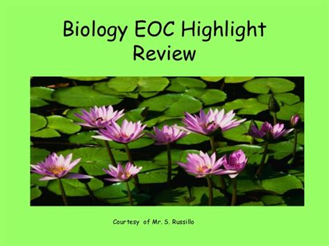 Bio Review biology eoc review slideshow