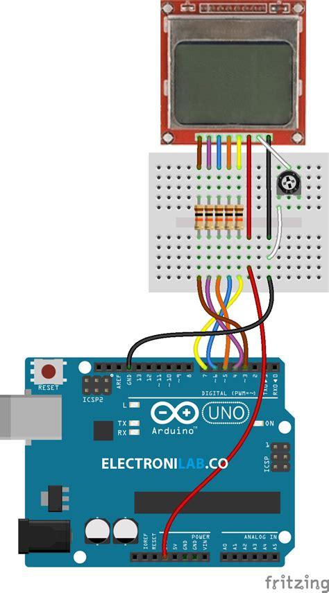 arduino tutorial nokia 5110 tutorial lcd gr 225 fico nokia 5110 con arduino electronilab