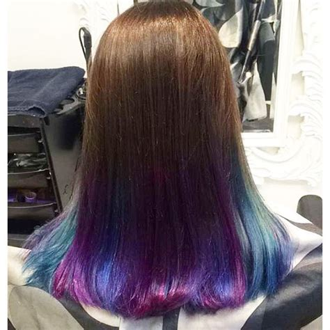 ombre hair color for kids purple and blue tips on brown hair www pixshark com