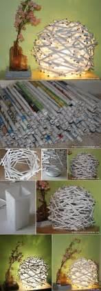 diy free diy newspaper tube night light diy projects usefuldiy com