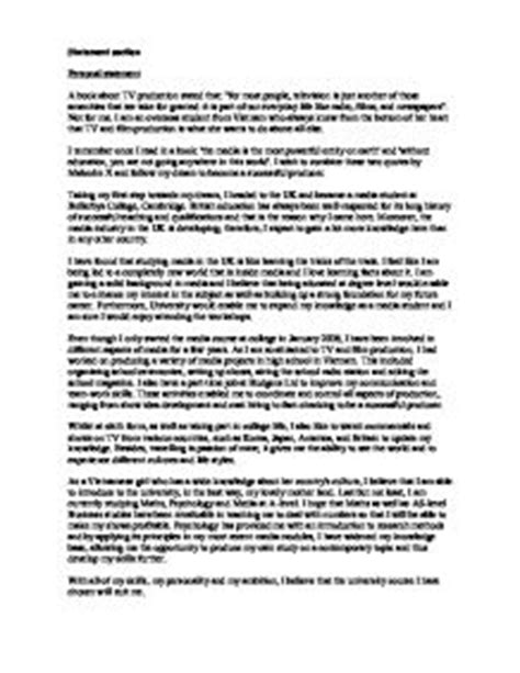 media statement template personal statement template media