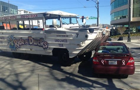 boston duck boats route boston duck boat crashes into overpass damages roof q13