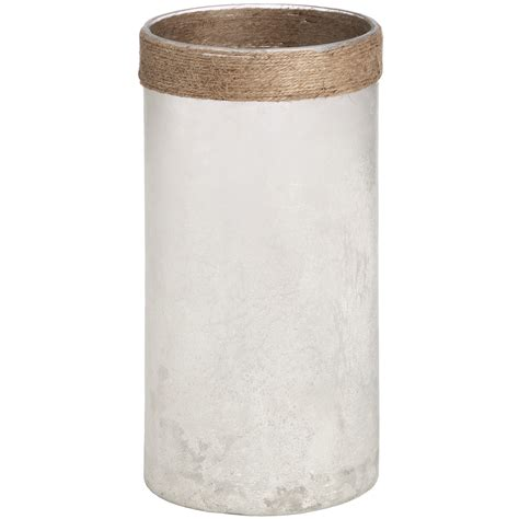 Frosted Glass Vase White Frosted Glass Vase With Rope From Baytree