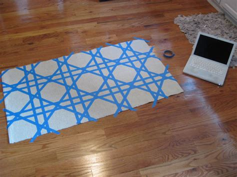 painting a rug reader redesign lattice underfoot