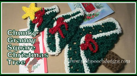 christmas tree pattern in c chunky granny square christmas tree crochet pattern youtube