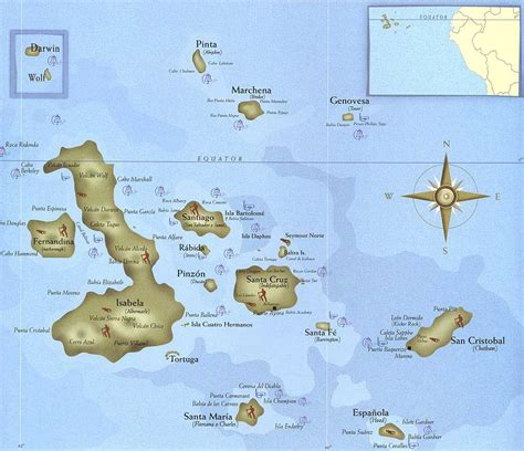 map of the islands galapagos islands tourist map galapagos islands mappery