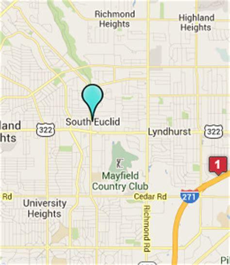 map of euclid ohio south euclid hotels motels ohio oh south euclid