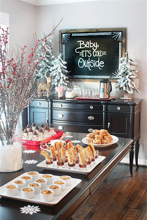 10 christmas buffet table decorating ideas