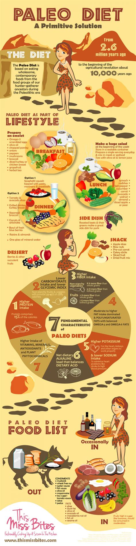 paleolithic diet paleo diet plan for beginners infographic
