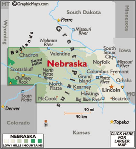 showing in lincoln ne nebraska map geography of nebraska map of nebraska