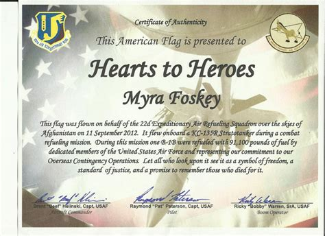 Us Flag Certificate Template Flag Certificate Template