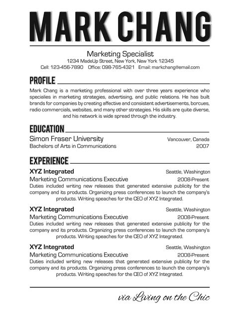 what font should you use on a resume resume ideas