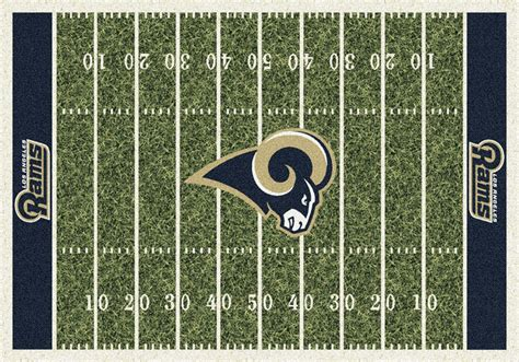 los angeles rams home field area rug nfl football logo