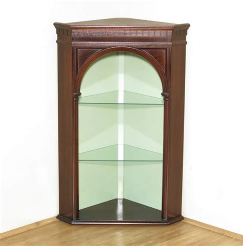 open shelves cabinet vintage mahogany corner wall hanging open shelf cabinet
