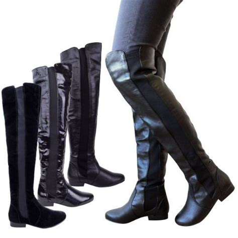wide calf thigh high boots s boots wide calf womens elasticated wide