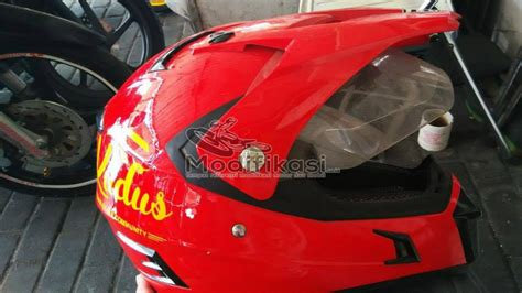 Helm Snail Supermoto Mx 311 review menggunakan helm snail mx311 supermoto modifikasi
